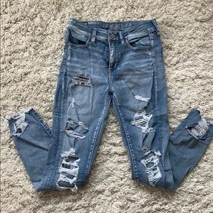 Ripped skinny jeans!
